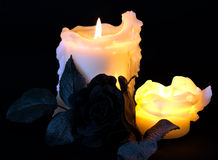 drippy candles Stock Image