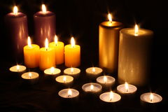 Candles. A group of colorful candles Royalty Free Stock Photography