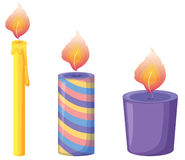 Candles. Illustration of three candles on white vector illustration