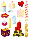 Candles. A set of Christmas candles Stock Images