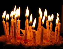 Candles. Birthday cake with candles on it Stock Photo