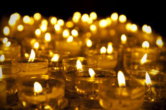 Candles. In dark church environment Royalty Free Stock Photos