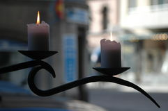 Candles. Two candles royalty free stock photography