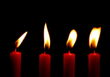 Candles. Lightning candles royalty free stock images