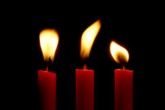 Candles. Lightning candles stock photo