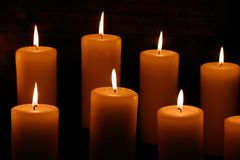 Candles #4 stock photography