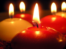 Candles. Burning candles Stock Images