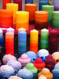Candles. Multi colored candles royalty free stock photo
