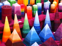 Candles. Various colored candles Royalty Free Stock Photography
