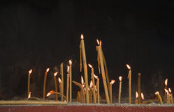 Candles. Lit in remembrance of the departed ones Royalty Free Stock Images