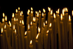 Candles. Here are some glowing candles Royalty Free Stock Images