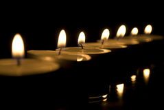 Candles. Light in the night Royalty Free Stock Photo