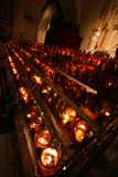 Candles. In Saint Patrick's cathedral Stock Image