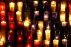 Candles. Background possible to use for printing and project Stock Images