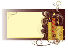 Candles. The congratulatory card with candles Stock Image