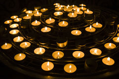 Candles. Inside Notre Dame Cathedral Royalty Free Stock Image