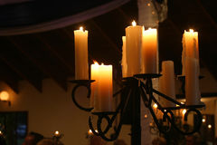 Candles. At a wedding royalty free stock photography
