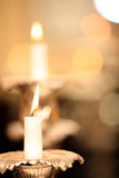 Candles abstraction (soft focus) Royalty Free Stock Photo