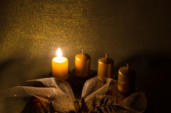 Candles in advent wreath Royalty Free Stock Image