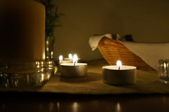Candles on altar Stock Image