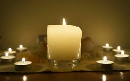 Candles on altar Royalty Free Stock Photo
