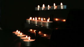 Candles at the alter Stock Image
