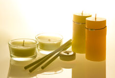 Candles aroma therapy  Stock Images