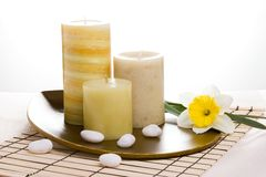 Candles aroma therapy set Stock Photography