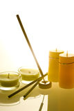 Candles aromatherapy  Royalty Free Stock Images