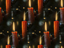 Candles as seamless background Stock Image