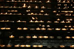 Candles background Royalty Free Stock Photo