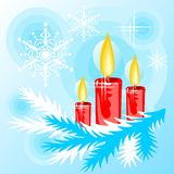 Candles background Stock Photos