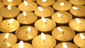 Candles background stock video footage