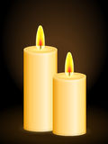 Candles background Stock Photo