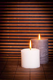 Candles and Bamboo Stock Photography