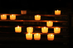 Candles in Basilica Royalty Free Stock Photos