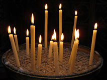 Candles in Basilica di Santa Maria in Trastevere Royalty Free Stock Photos