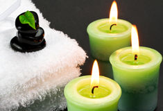 Candles in bath Royalty Free Stock Photo
