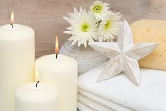 Candles In Bathroom Royalty Free Stock Photos