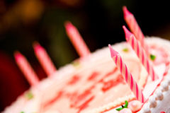 Candles on a birthday cake Stock Images