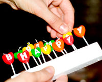 Candles for birthday cake Royalty Free Stock Photo