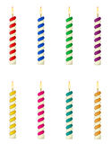 Candles for the birthday cake vector illustration Royalty Free Stock Photos