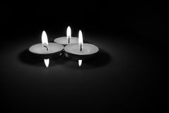 Candles black and white Royalty Free Stock Photo