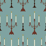 Candles blue pattern Royalty Free Stock Photos