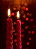 Candles with bokeh background Royalty Free Stock Photos