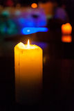 Candles with bokeh Royalty Free Stock Images