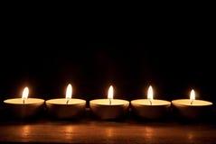 Candles border Royalty Free Stock Photo