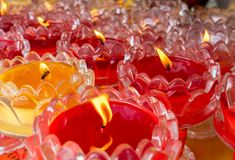 candles in bowls royalty free stock photo