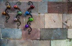Candles and Brick Wall Royalty Free Stock Image
