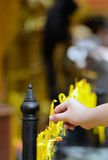 Candles for buddhism worshiping. In thailand Stock Images